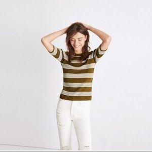 Madewell Short Sleeve Sweater in Bennett Stripe